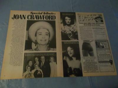 Joan Crawford special tribute  clipping  #FD