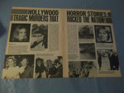 Sharon Tate & hollywood tragedys   clipping  #FD