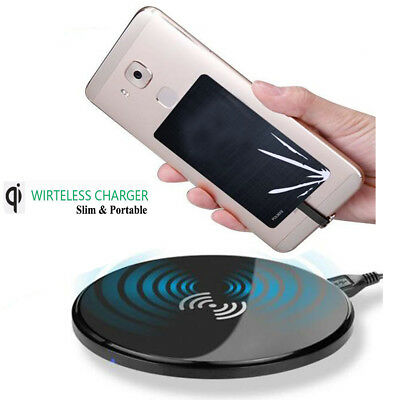 Qi Wireless Fast Charger Pad Slim Portable Station For Huawei Mate 10 Lite Pro
