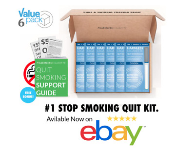 Naturally Effective Quit Aid / Stop Smoking Kit / Harmless Cigarette.(6 Pack)