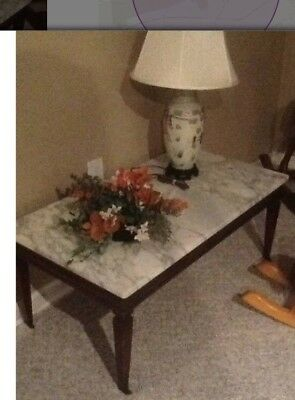 Antique Italian Marble Top Coffee/cocktail Table