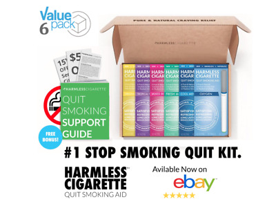 Harmless Cigarette Kit To Help You Stop Smoking + FREE Support Guide (6 Pack)