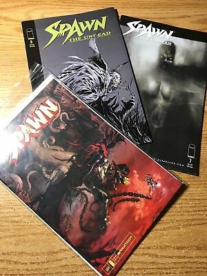 lot of 3 various spawn comics