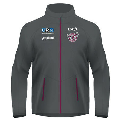 Manly Warringah Sea Eagles 2018 NRL Adults Mens Wet Weather Jacket Rugby League