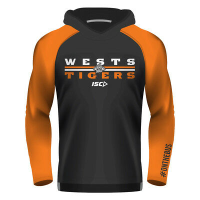 Wests Tigers 2018 NRL Mens Warm Up Top BNWT Rugby League