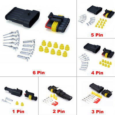 1 2 3 4 5 6 Pin Way Sealed Waterproof Electrical Wire Connector Plug Car Auto