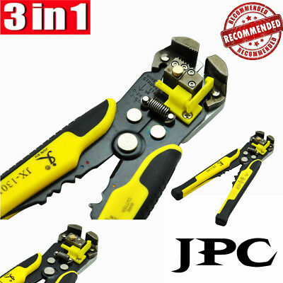 8-Inch Self-Adjusting Wire Stripper Electric Cable Wire Crimping Pliers Tool AUS