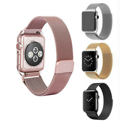 Magnetic Milanese Metal Strap Bands 4 Colours For Iwatch Series 1-3 38/42mm