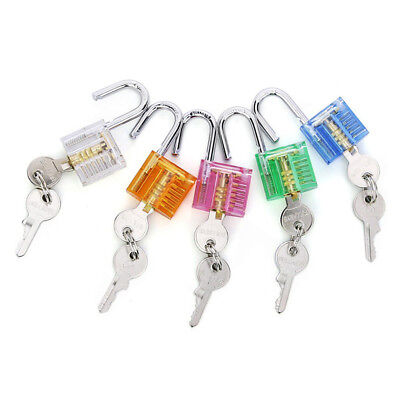 1pc Locksmith Transparent Visable Cutaway Practice Padlock Lock Training Skill