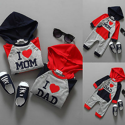 Newborn Tracksuit Baby Boy Girl Kids Cotton Bodysuit Romper Jumpsuit Clothes Set