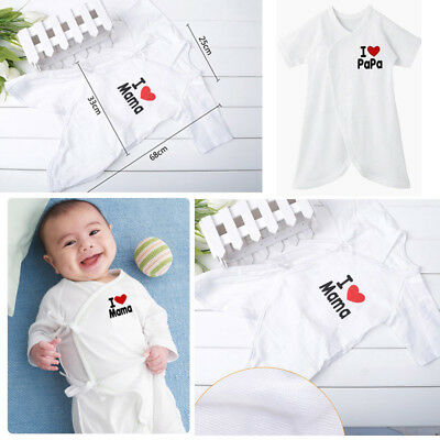 Toddler Baby Boys Girls I Love Mama &Papa Cotton Romper Jumpsuit Bodysuit Outfit