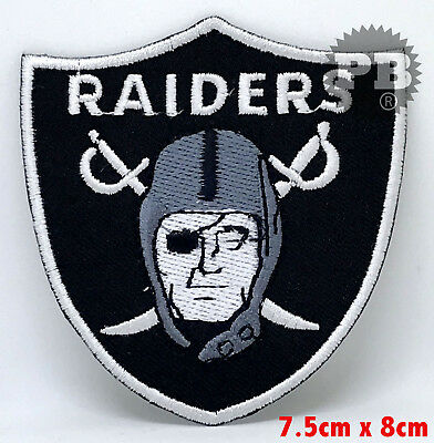 The Oakland Raiders Bügel Patch gesticktes Logo uk-verkäufer