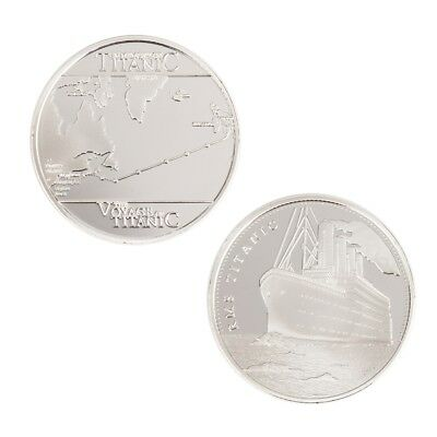 Titanic Sailing Routes Commemorative Coin Collection Souvenir Silver Plated  DH