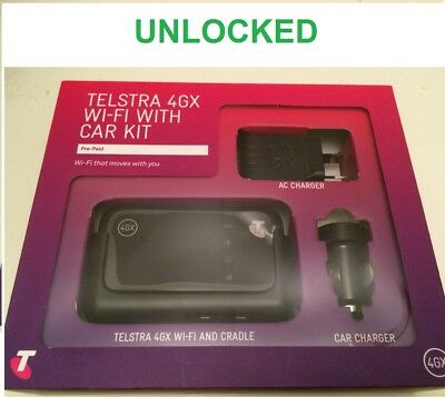 New *Unlocked* Telstra 4GX ZTE MF910V Wi-Fi Modem with Car Kit(Aldi, Boost,Lyca)