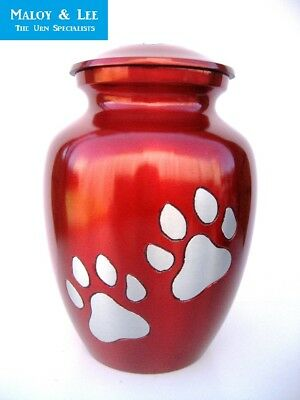 Paws in My Heart Large Full Sized Cremation Ashes Aluminium Pet Dog Cat Urn