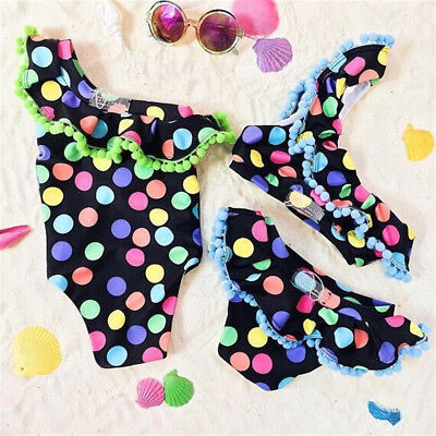 AU Stock Kid Baby Girl Tankini Bikini Swimwear Swimsuit Bathing Suit Beachwear