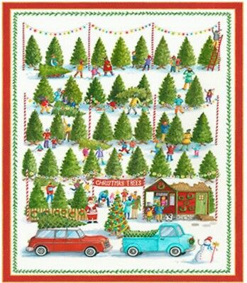 Best Tree On The Lot Quilt Panel * New * Free Post *