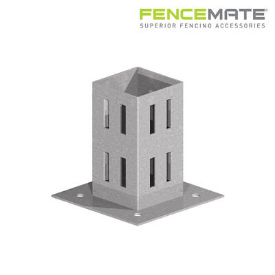 Fencemate Hold Fast Bolt Down Fence Post Support for Fixing to any Hard Surface