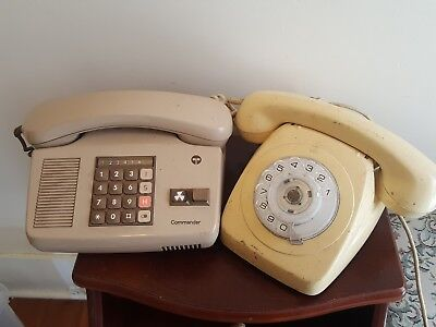 Vintage Rotary Dial Telephone & Telecom Commander S Series phones