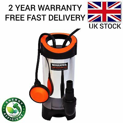Stainless Steel Electric Dirty Water Submersible Flood Pool Sump Pump 1100W