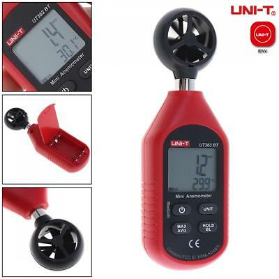 Mini Anemometer Digital LCD Wind Speed Velocity Bluetooth Key Thermometer Meter