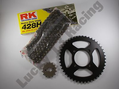 RK Chain and JT sprocket kit 14T front 38T rear for Yamaha YBR125 custom 08-14