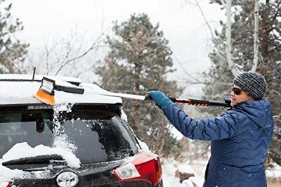 Snow Brush with Squeegee & Ice Scraper & Foam Grip, Car Truck SUV,  Extra Long