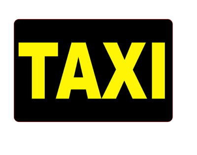 Taxi Magnets Car Sign Door Private Hire Rank Boot  Magnetic Bonnet 460mm x 2