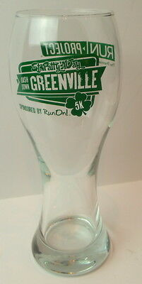 St. Patty's Day Dash Down Greenville Ave. DALLAS Run On 5K Beer Glass Vintage
