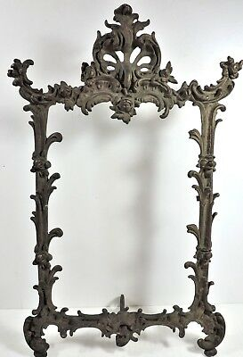 Antique Cast Iron Ornate Easil Picture Frame