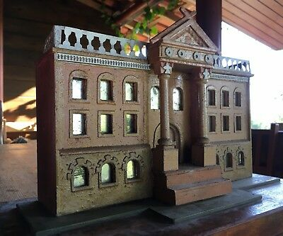 Grand Tour Architectural Model English Countryhouse Mirrored Windows Maquette