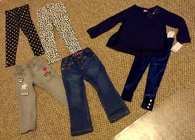 BRAND NEW 6 Piece Lot -- Girls Jeans Outfit Size 3T Outfit Sets Jeans