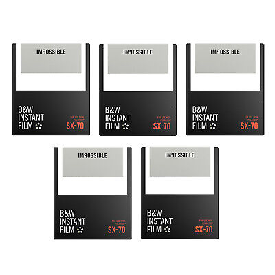 Impossible B&W Film for Polaroid SX-70 Cameras (5-Pack)