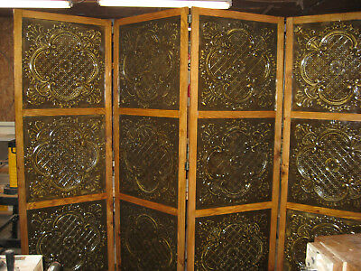 tin ceiling panel room divider
