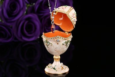Pure and romantic metal faberge egg style jewelry box crafts gift decoration