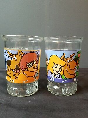 1999 Welch's Bama Scooby-Doo and the Witch's Ghost Jelly Jar #1 and #2