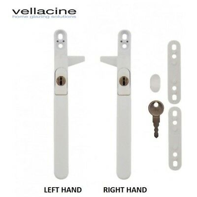 VERSA Universal Cockspur Locking Upvc Aluminium Window Handle - White or Chrome