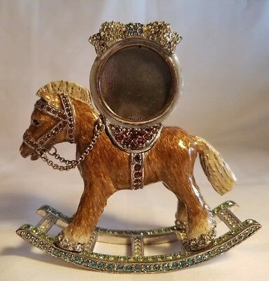 JAY STRONGWATER RARE Edition Bailey Rocking Horse Picture Frame #SPF5248-656