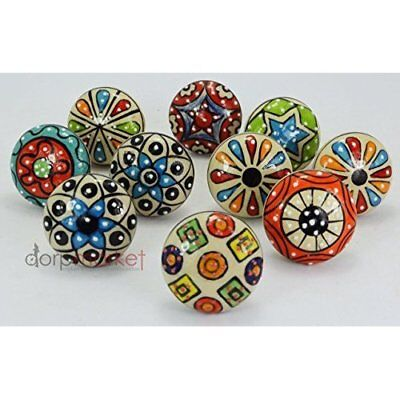 Retro Style Door Knobs Vintage Ceramic Knob Cabinet Drawer Classic Home Decor