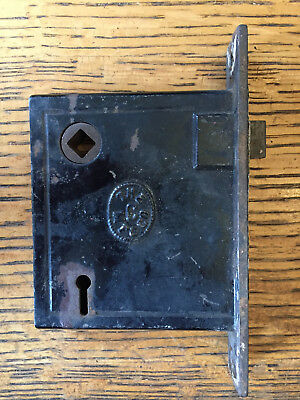 Antique steel The M.F.G Co. interior mortise lock