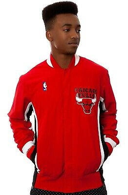 New Men's NBA Mitchell & Ness Jacket - Authentic Warm Up 1992 Chicago Bulls Red