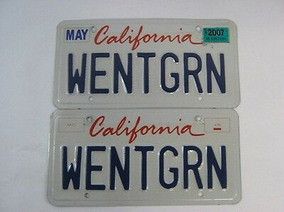 "California Vanity Plate ""Wentgrn""  Alternative Energy Company Ceo Statement"