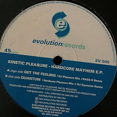 "Kinetic Pleasure - Hardcore Mayhem E.P. (Evolution Records EV 005) 12"" Vinyl"