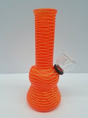 Hookah Water Pipe Bong Glass Mini 5 inch - Hot Orange