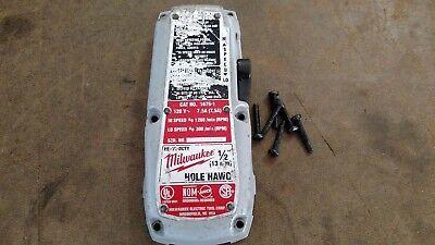 """Milwaukee 1675-1 Hole Hawg 1/2"""" Right Angle Drill Gear Case Cover Cap Parts"""