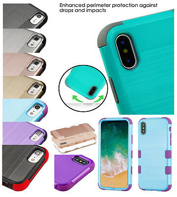 Samsung GALAXY J3 2017 TUFF Hybrid Armor Brushed Rugged Shock proof Case Cover