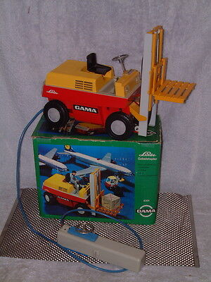 Vintage Gama Battery Operated Forklift Gabelstapler Perfectly Working W/box!