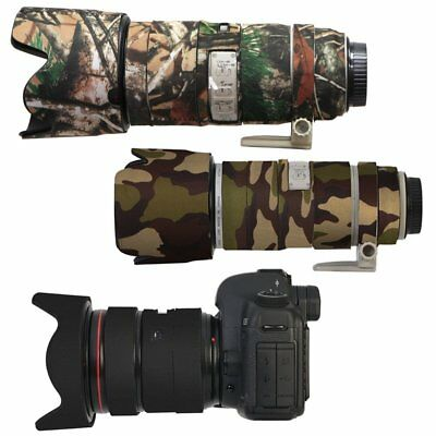 Neoprene Camera Lens Cover Waterproof Protection Coat For Canon Black Green Camo