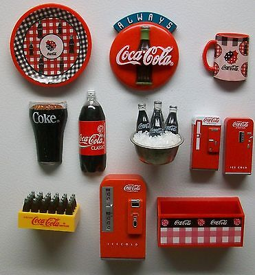 Fridge Magnets Lot Always Coca Cola Glass Bottle on Ice Crate Vending Machines