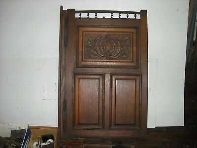 Beautiful antique quarter sawed oak swinging door with 4 spring hinges.